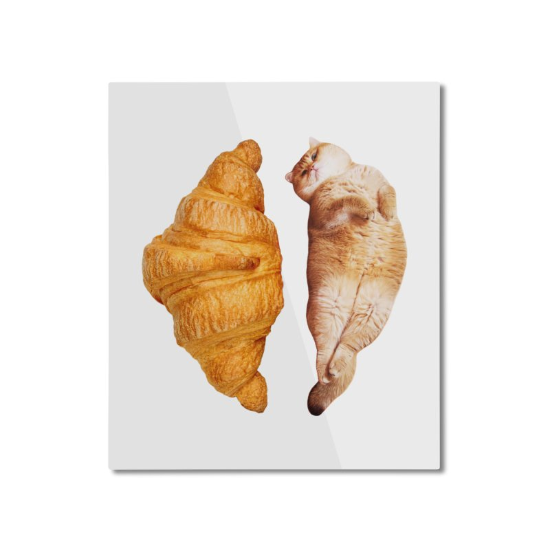 Croissant Home Mounted Aluminum Print by Hosico's Shop
