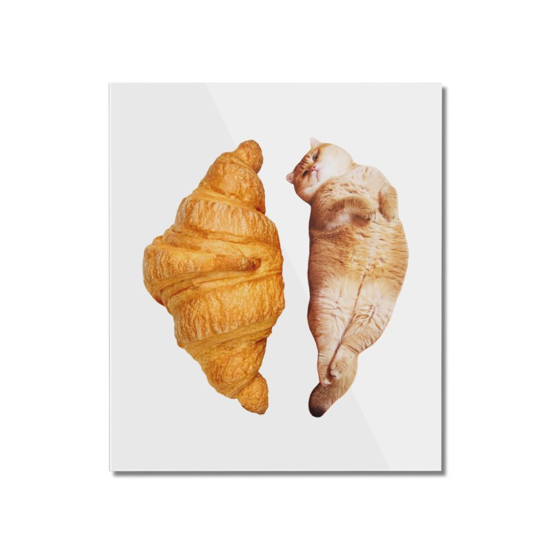 Croissant Home Mounted Acrylic Print by Hosico's Shop