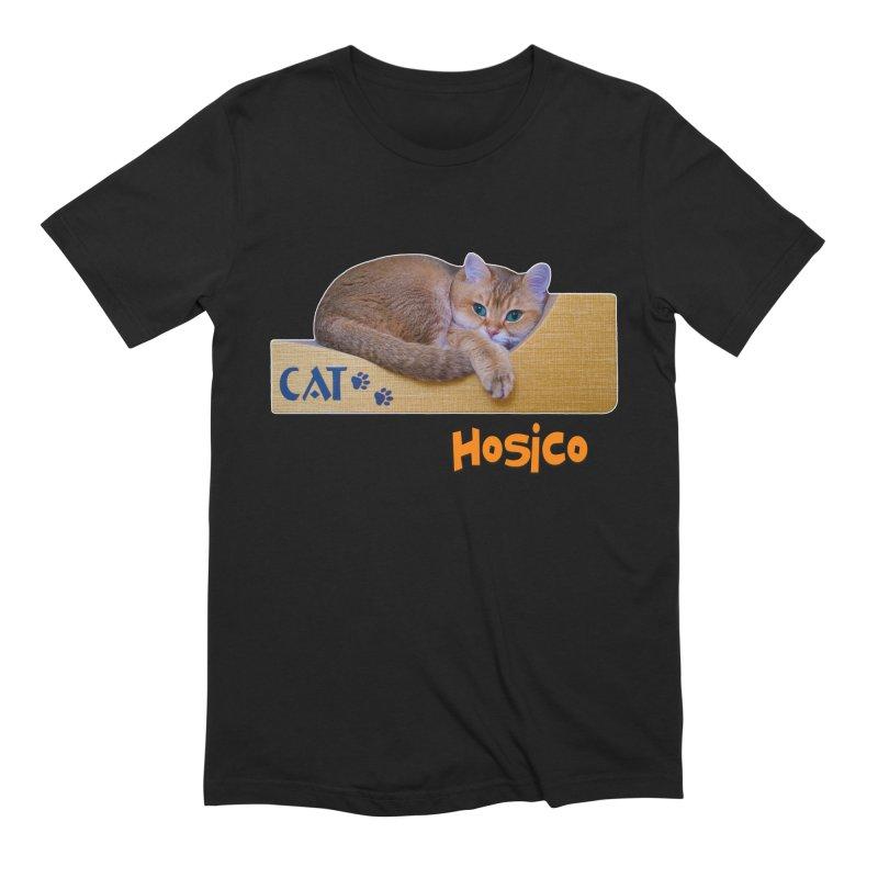 Here I Am - Hosico Men's Extra Soft T-Shirt by Hosico's Shop