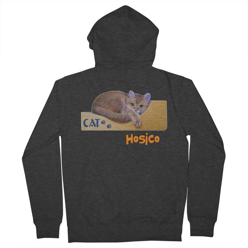 Here I Am - Hosico Men's Zip-Up Hoody by Hosico's Shop