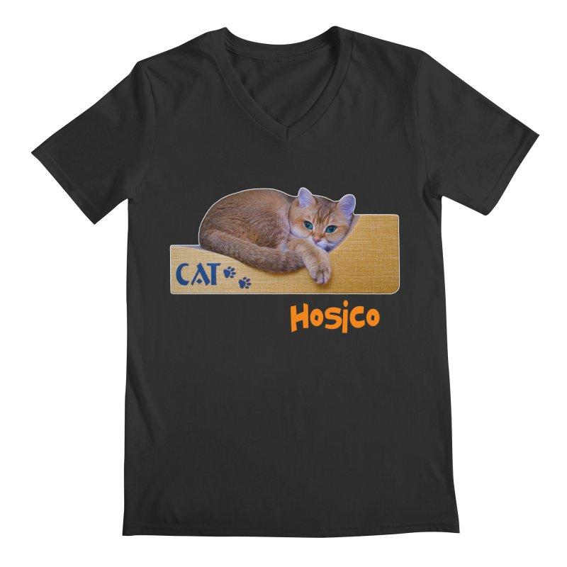 Here I Am - Hosico Men's V-Neck by Hosico's Shop