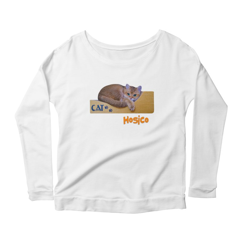 Here I Am - Hosico Women's Longsleeve Scoopneck  by Hosico's Shop