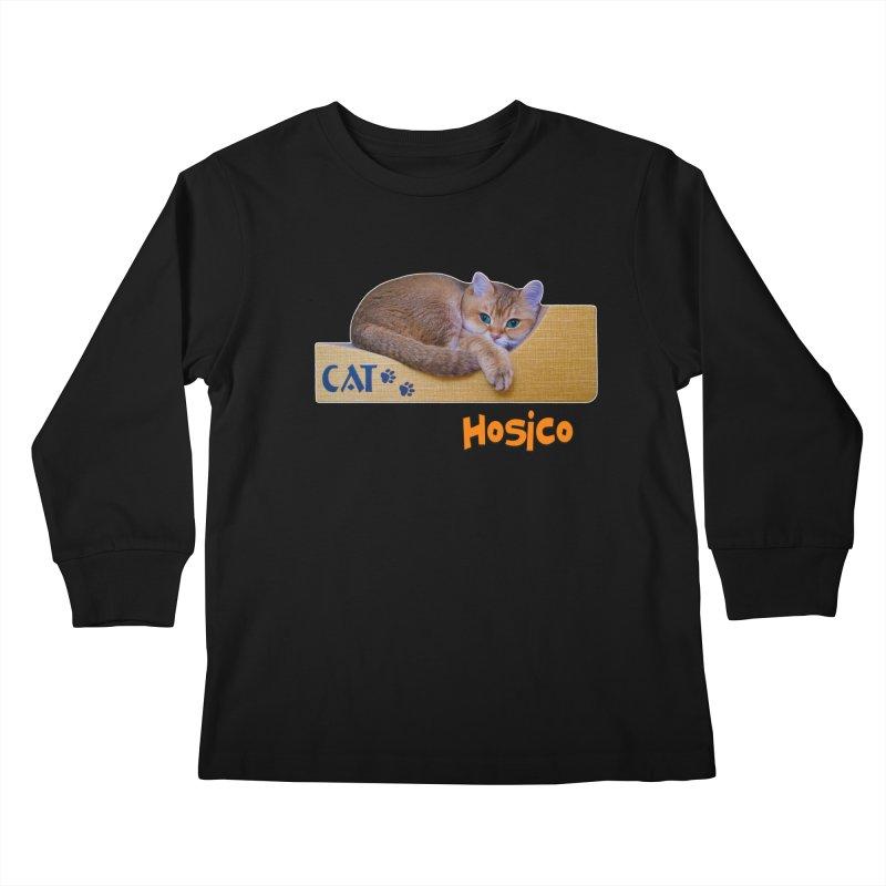 Here I Am - Hosico Kids Longsleeve T-Shirt by Hosico's Shop