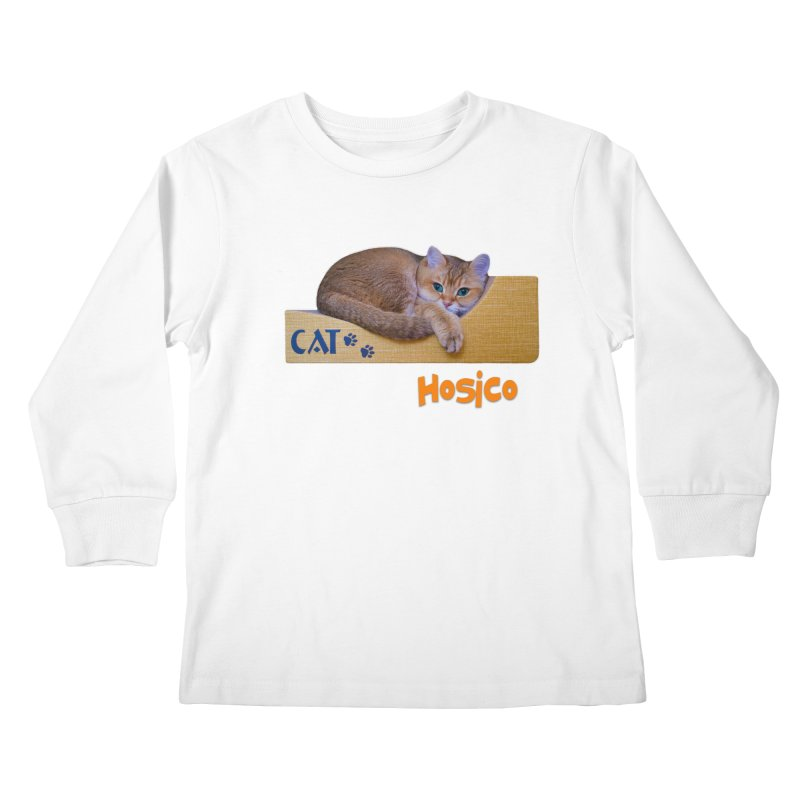 Here I Am - Hosico Kids Longsleeve T-Shirt by Hosico's Shop
