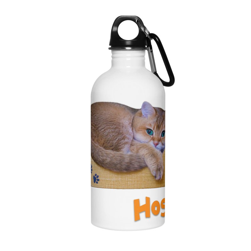 Here I Am - Hosico Accessories Water Bottle by Hosico's Shop