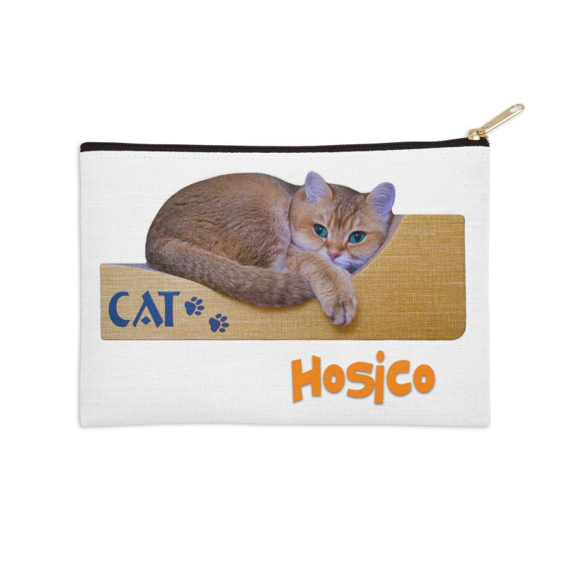 Here I Am - Hosico Accessories Zip Pouch by Hosico's Shop
