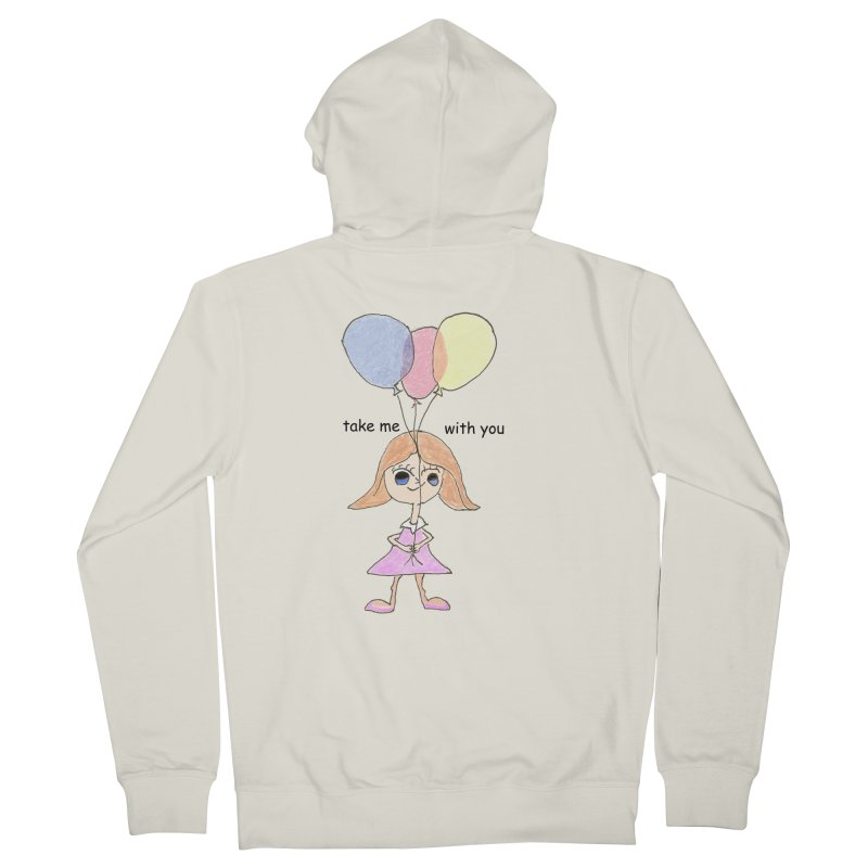 Balloons Men's French Terry Zip-Up Hoody by hotday's Artist Shop