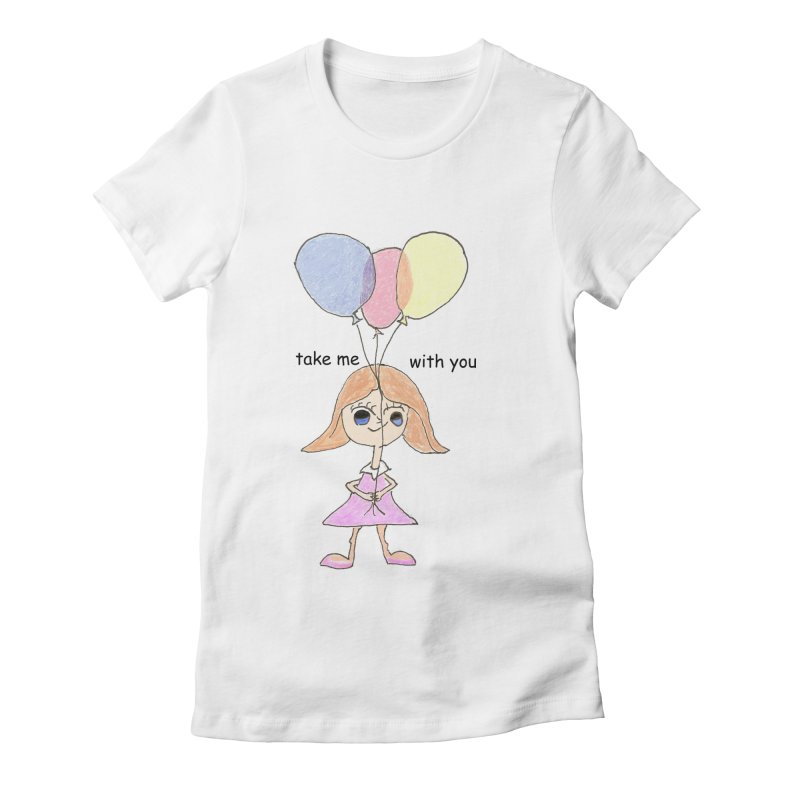 Balloons Women's Fitted T-Shirt by hotday's Artist Shop