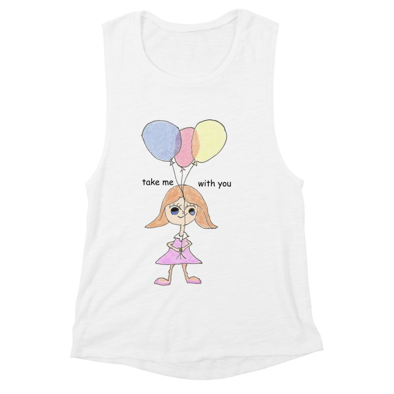 Balloons Women's Muscle Tank by hotday's Artist Shop