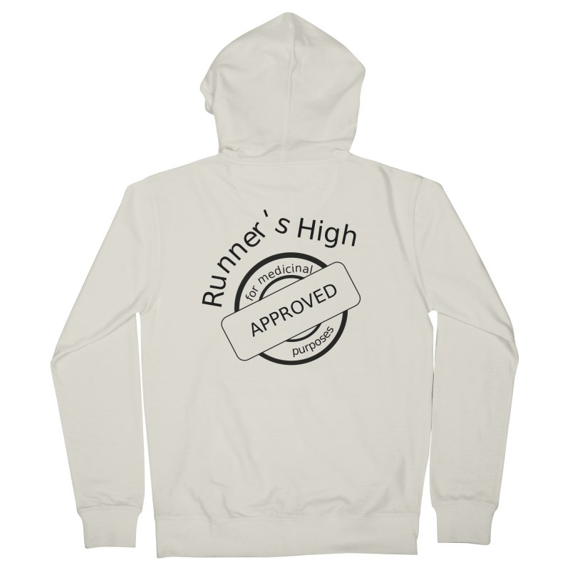 Runner's High Men's French Terry Zip-Up Hoody by hotday's Artist Shop