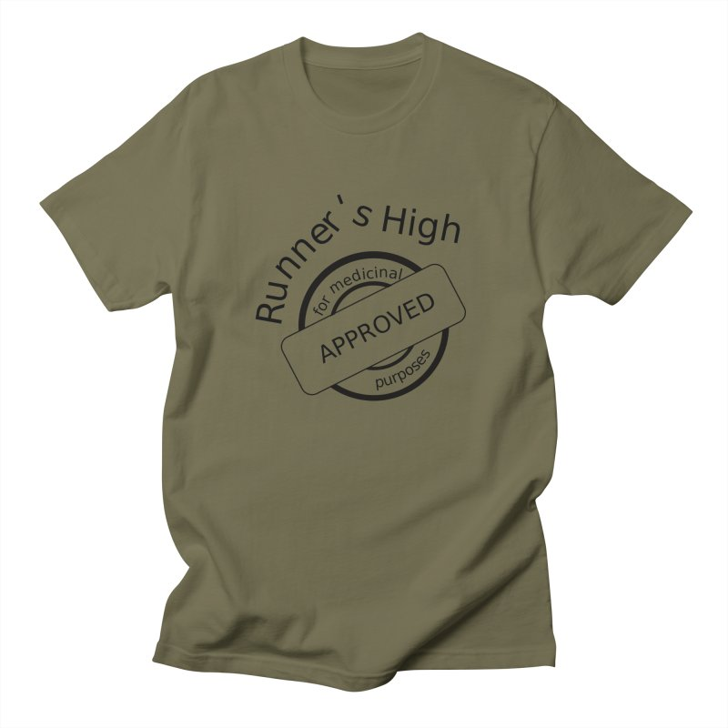 Runner's High Men's Regular T-Shirt by hotday's Artist Shop