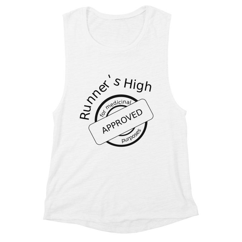 Runner's High Women's Muscle Tank by hotday's Artist Shop