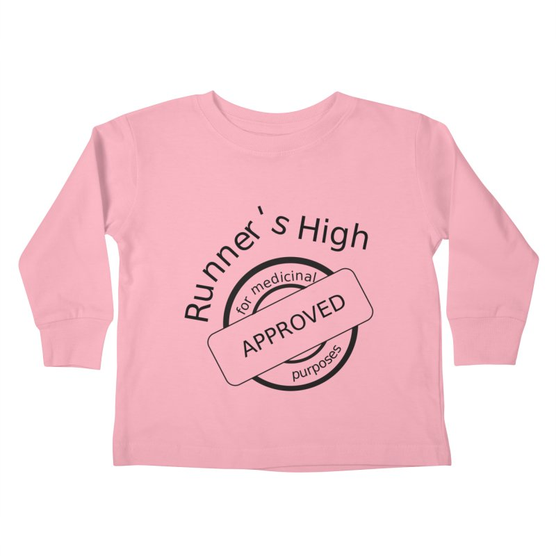 Runner's High Kids Toddler Longsleeve T-Shirt by hotday's Artist Shop