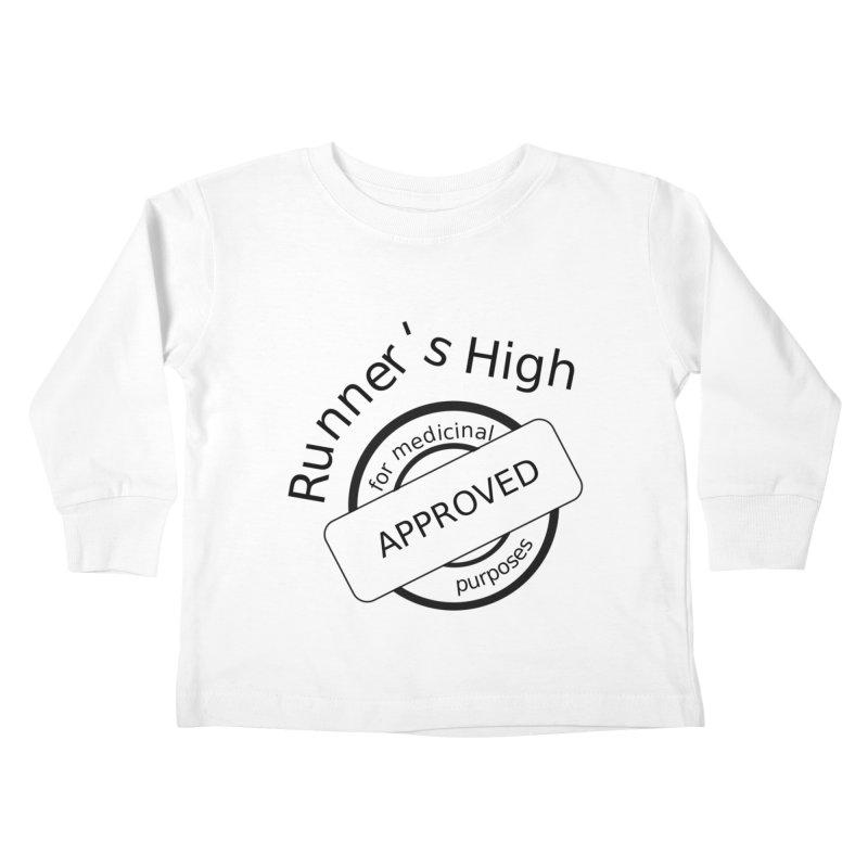 Runner's High Kids Toddler Longsleeve T-Shirt by hotday's Artist Shop