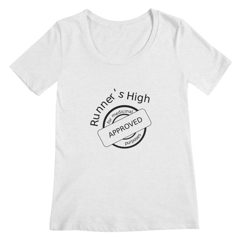 Runner's High Women's Regular Scoop Neck by hotday's Artist Shop