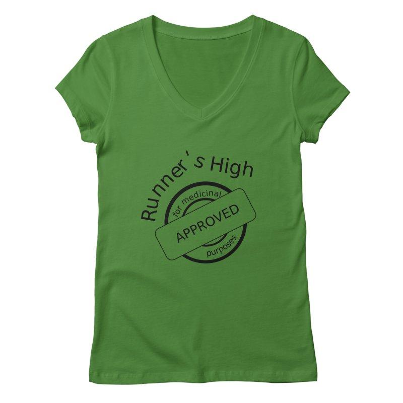 Runner's High Women's Regular V-Neck by hotday's Artist Shop