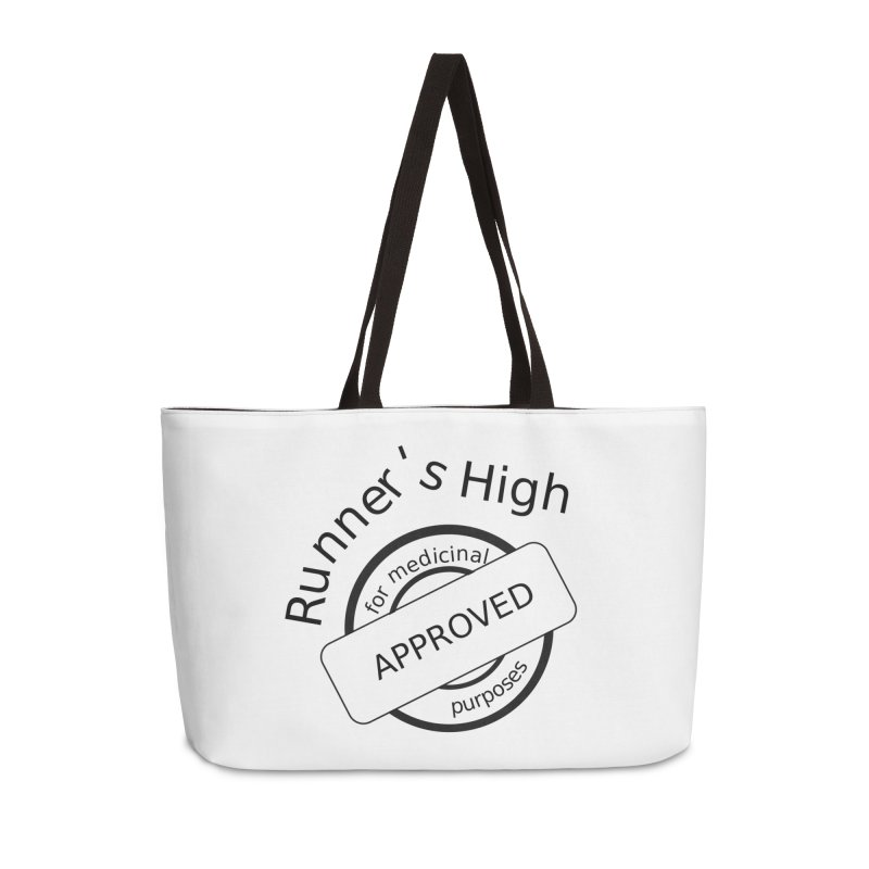 Runner's High Accessories Weekender Bag Bag by hotday's Artist Shop