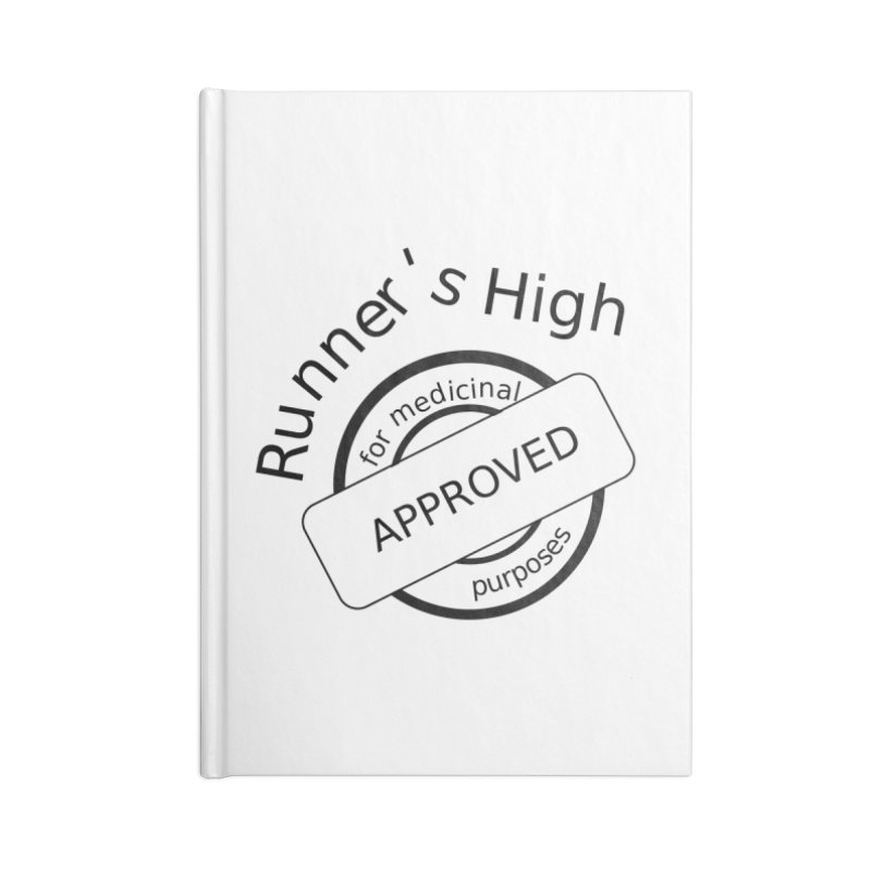 Runner's High Accessories Lined Journal Notebook by hotday's Artist Shop