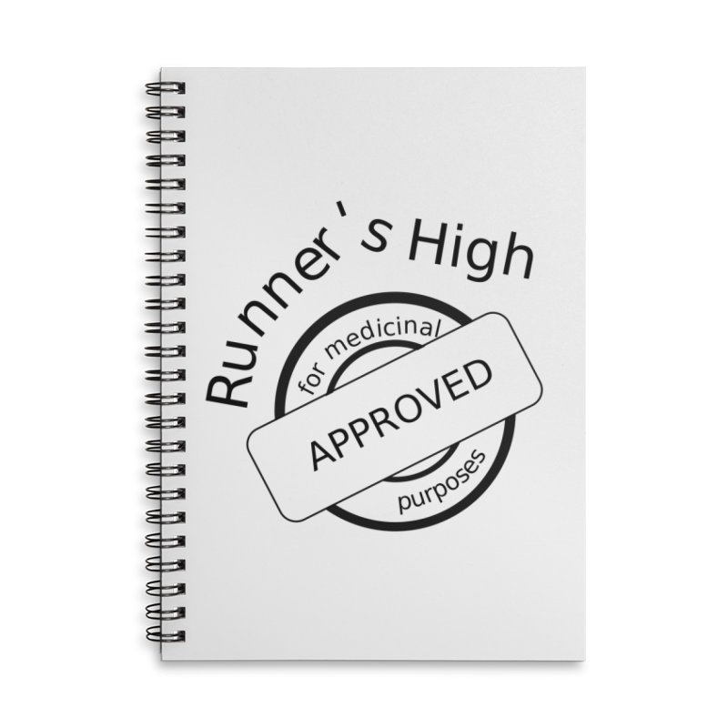 Runner's High Accessories Lined Spiral Notebook by hotday's Artist Shop