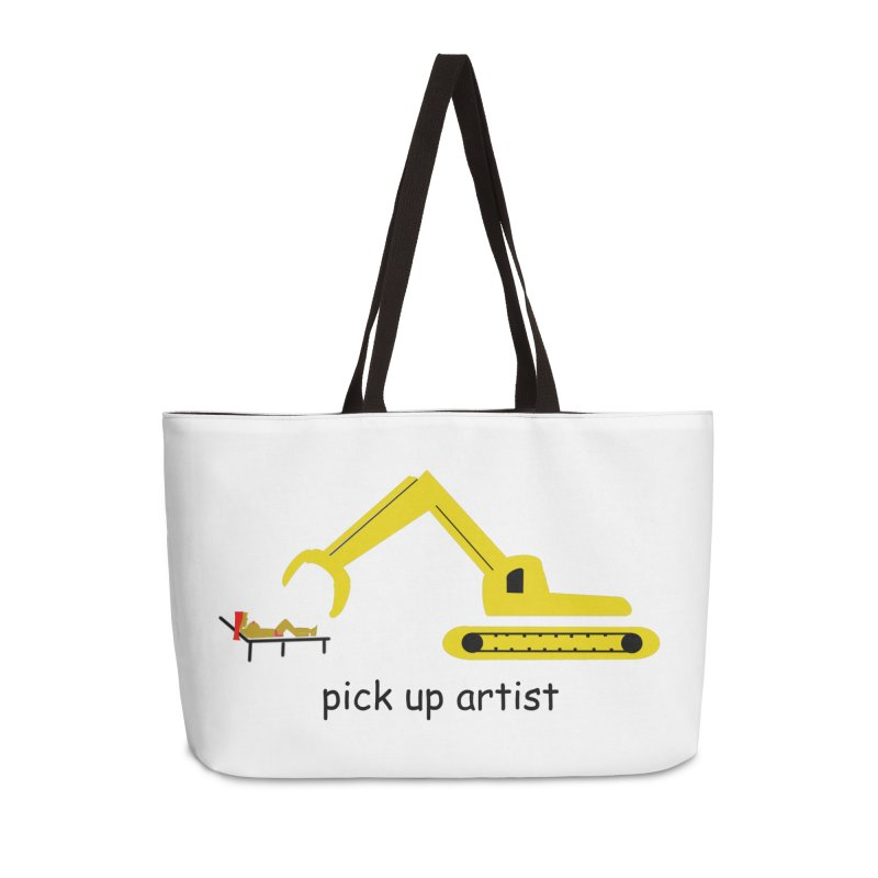 Pick Up Artist Accessories Weekender Bag Bag by hotday's Artist Shop