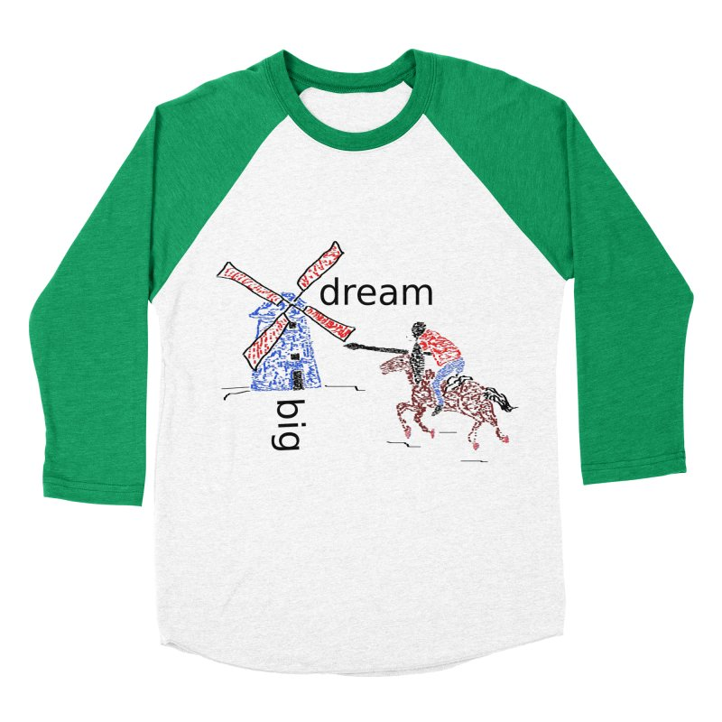 Don Quixote Women's Baseball Triblend Longsleeve T-Shirt by hotday's Artist Shop