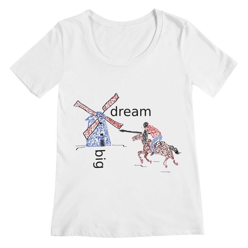 Don Quixote Women's Regular Scoop Neck by hotday's Artist Shop