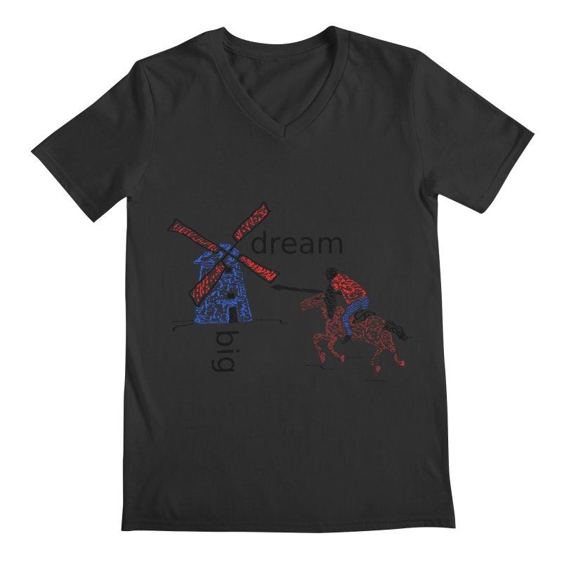 Don Quixote Men's V-Neck by hotday's Artist Shop
