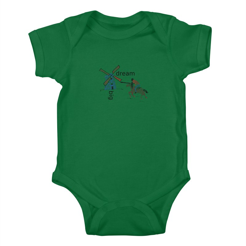 Don Quixote Kids Baby Bodysuit by hotday's Artist Shop