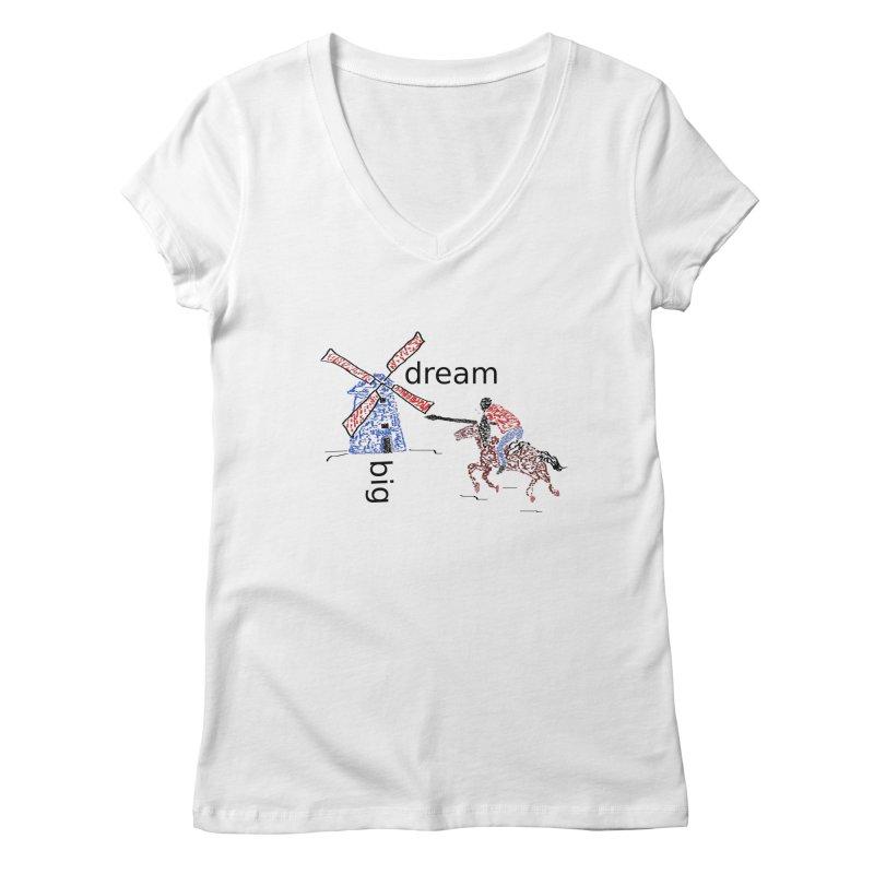 Don Quixote Women's Regular V-Neck by hotday's Artist Shop