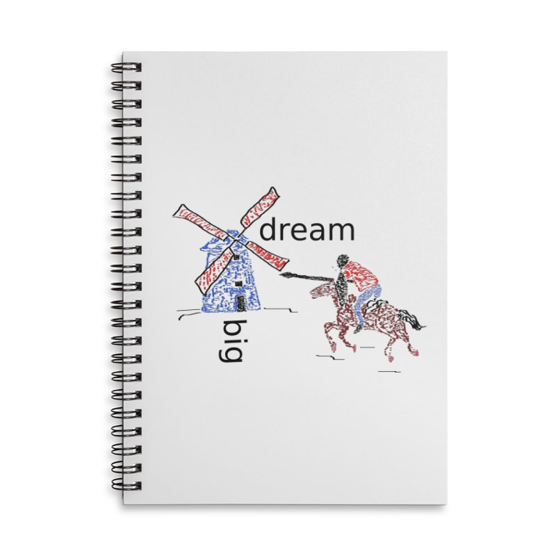 Don Quixote Accessories Lined Spiral Notebook by hotday's Artist Shop
