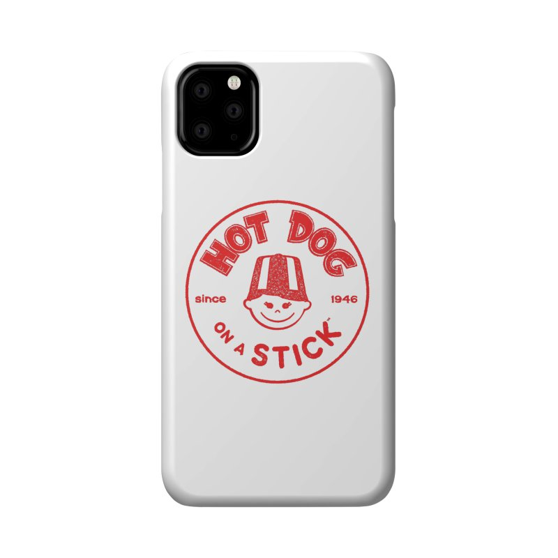 Hot Dog on a Stick Red Logo Accessories Phone Case by Hot Dog On A Stick's Artist Shop