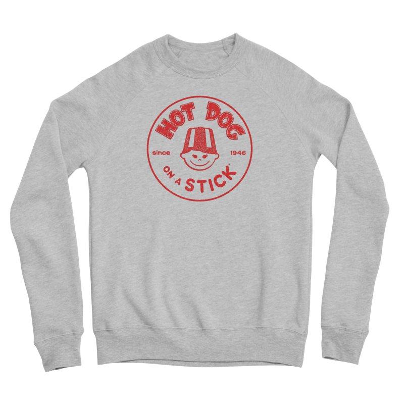 Hot Dog on a Stick Red Logo Women's Sweatshirt by Hot Dog On A Stick's Artist Shop