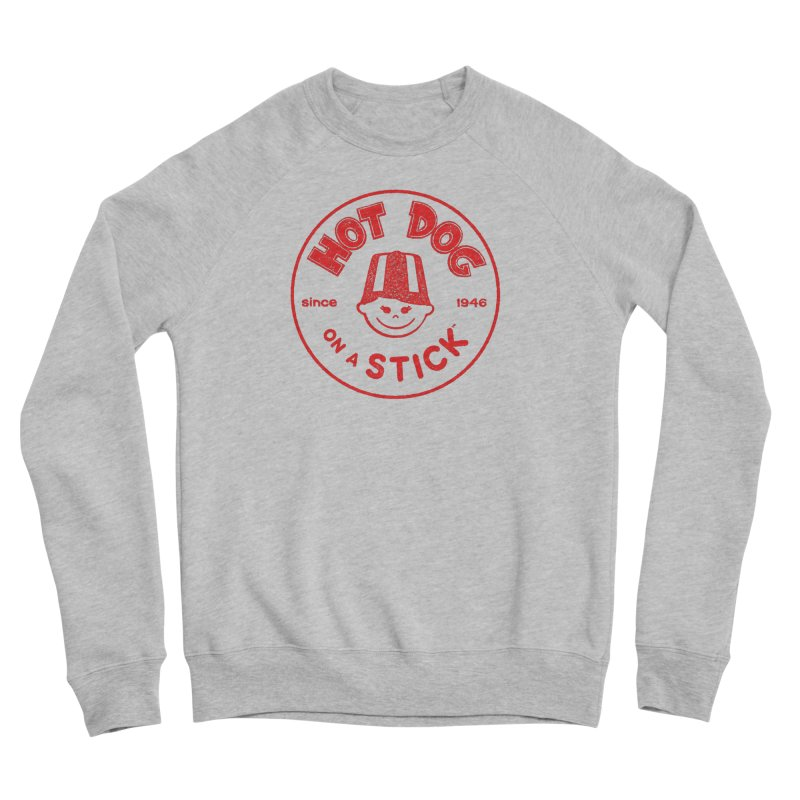 Hot Dog on a Stick Red Logo Men's Sponge Fleece Sweatshirt by Hot Dog On A Stick's Artist Shop