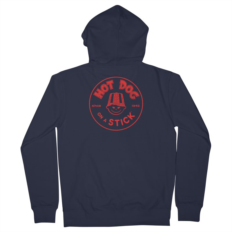 Hot Dog on a Stick Red Logo Men's Zip-Up Hoody by Hot Dog On A Stick's Artist Shop