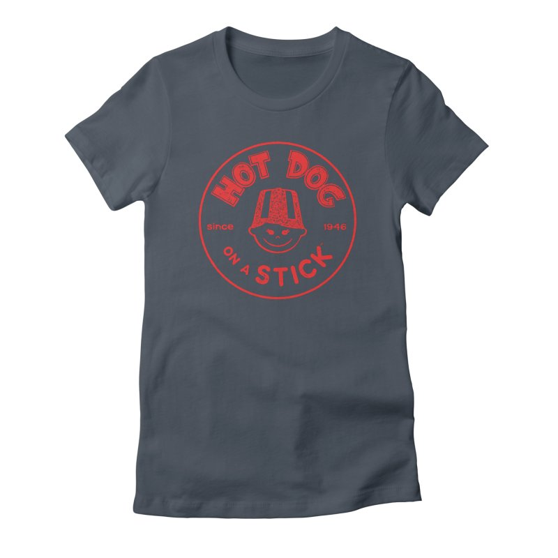 Hot Dog on a Stick Red Logo Women's T-Shirt by Hot Dog On A Stick's Artist Shop