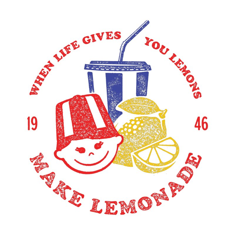 When Life Gives You Lemons Home Fine Art Print by Hot Dog On A Stick's Artist Shop