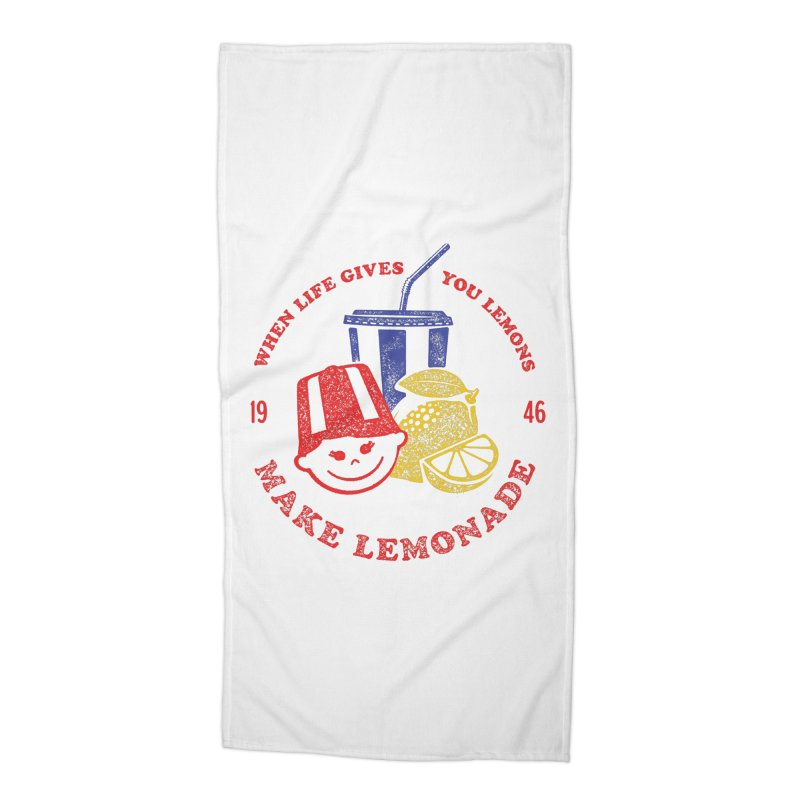 When Life Gives You Lemons Accessories Beach Towel by Hot Dog On A Stick's Artist Shop