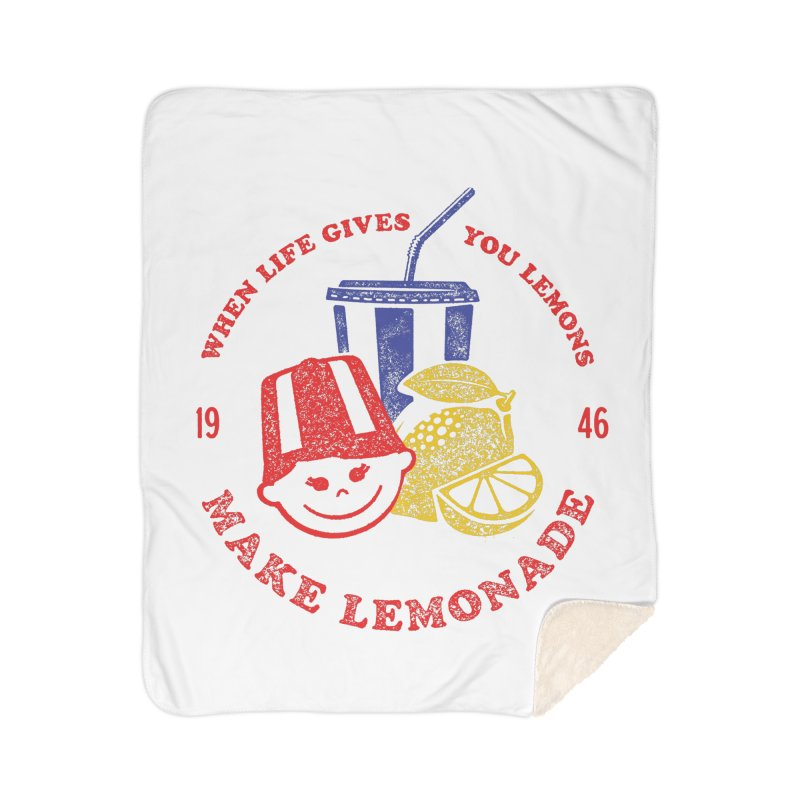 When Life Gives You Lemons Home Sherpa Blanket Blanket by Hot Dog On A Stick's Artist Shop