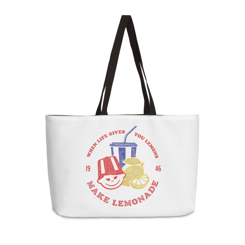 When Life Gives You Lemons Accessories Weekender Bag Bag by Hot Dog On A Stick's Artist Shop