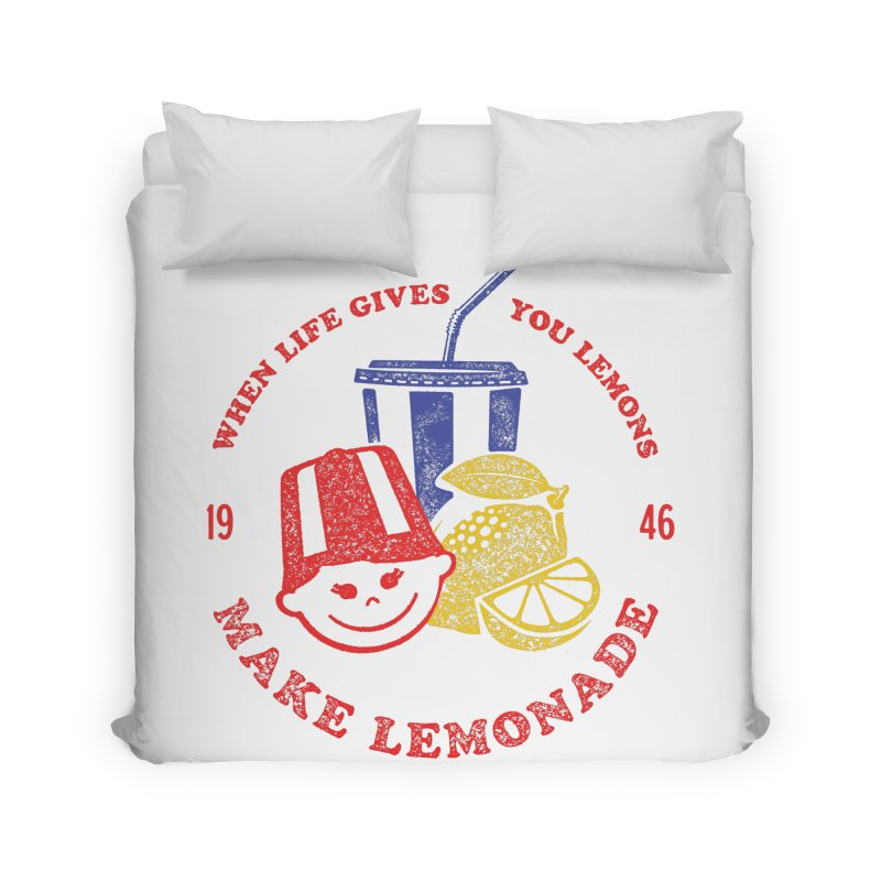 When Life Gives You Lemons Home Duvet by Hot Dog On A Stick's Artist Shop
