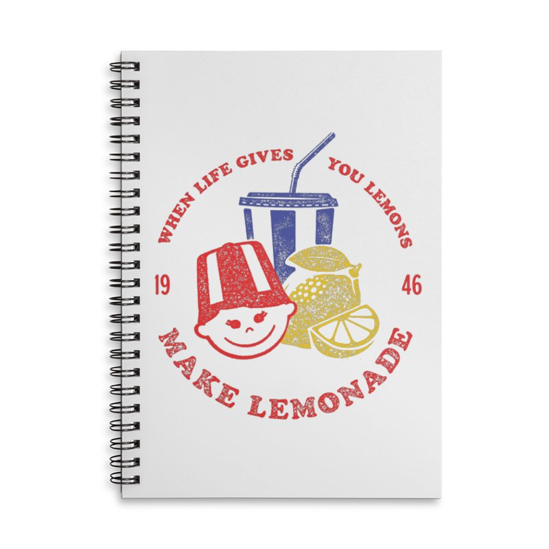 When Life Gives You Lemons Accessories Lined Spiral Notebook by Hot Dog On A Stick's Artist Shop
