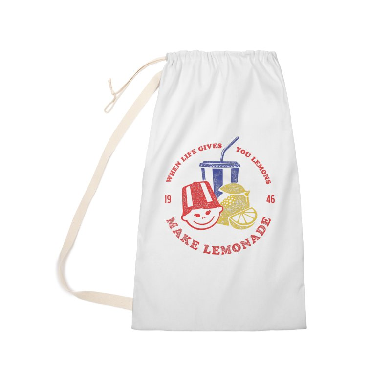 When Life Gives You Lemons Accessories Laundry Bag Bag by Hot Dog On A Stick's Artist Shop
