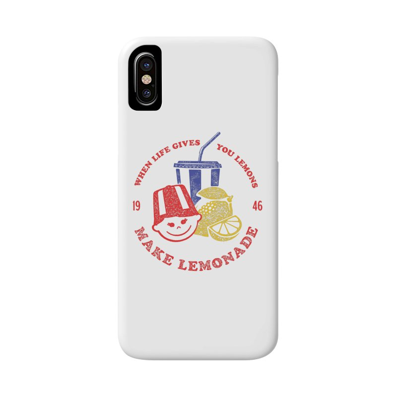 When Life Gives You Lemons in iPhone X / XS Phone Case Slim by Hot Dog On A Stick's Artist Shop