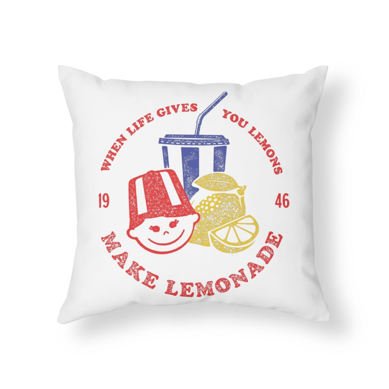 When Life Gives You Lemons Home Throw Pillow by Hot Dog On A Stick's Artist Shop