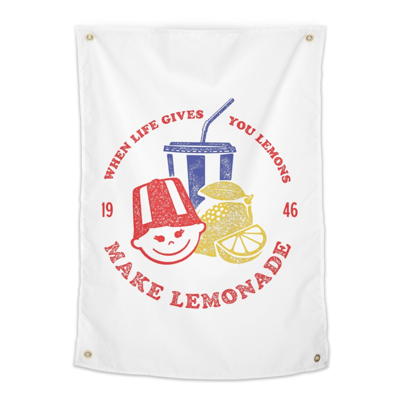When Life Gives You Lemons Home Tapestry by Hot Dog On A Stick's Artist Shop