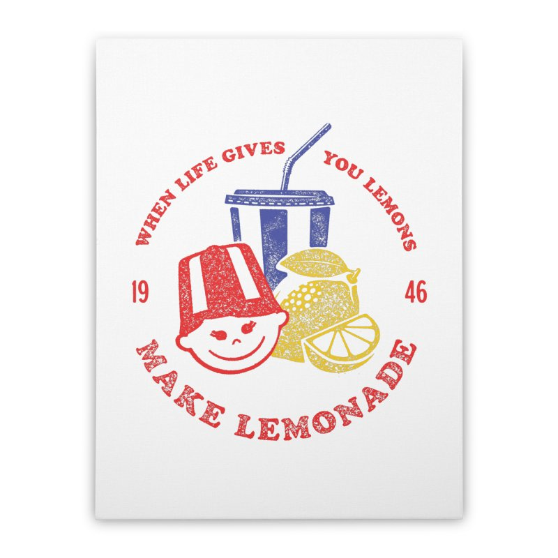 When Life Gives You Lemons Home Stretched Canvas by Hot Dog On A Stick's Artist Shop