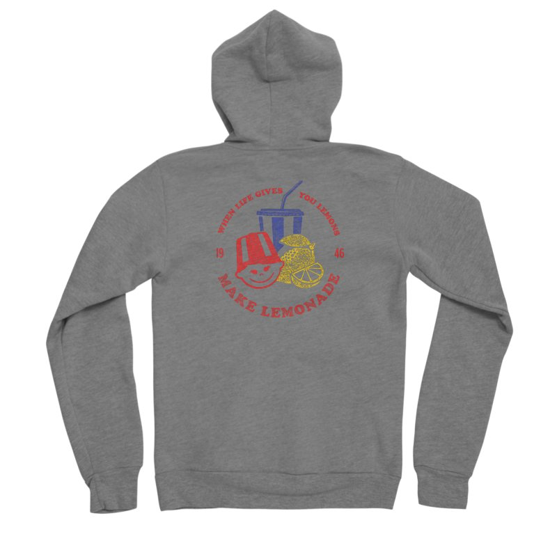 When Life Gives You Lemons Women's Sponge Fleece Zip-Up Hoody by Hot Dog On A Stick's Artist Shop