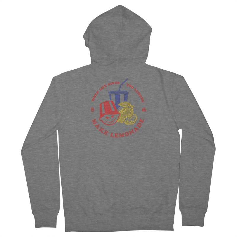 When Life Gives You Lemons Men's French Terry Zip-Up Hoody by Hot Dog On A Stick's Artist Shop