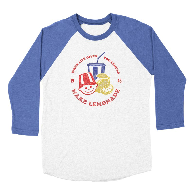 When Life Gives You Lemons Men's Baseball Triblend Longsleeve T-Shirt by Hot Dog On A Stick's Artist Shop