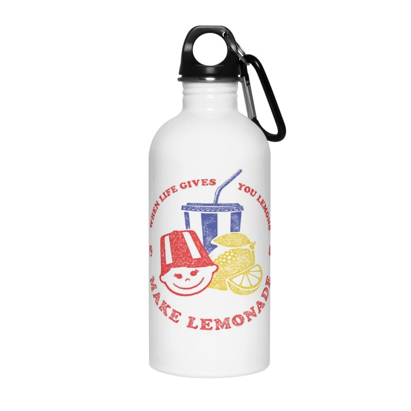 When Life Gives You Lemons in Water Bottle by Hot Dog On A Stick's Artist Shop
